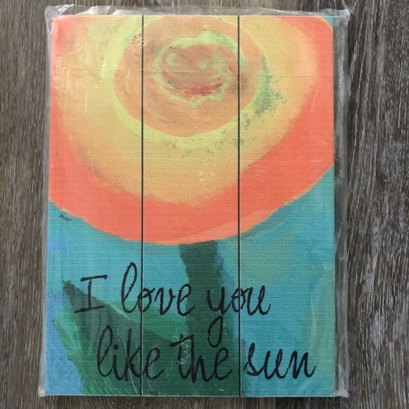 Love You Like The Sun Wall Art
